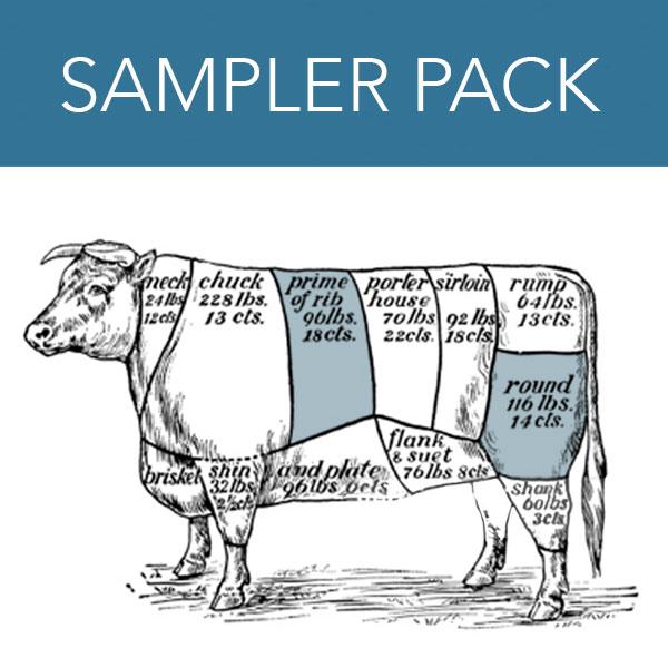 Grass Fed Sampler Pack - 20 lb pack